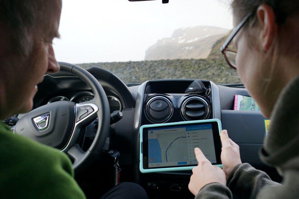Routenplanung unterwegs mit dem Tablet