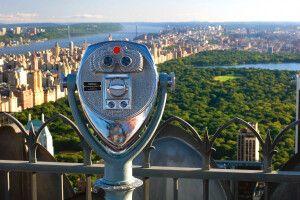 Blick vom Top of the Rock über New York und den Central Park