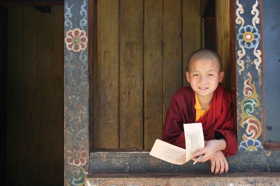 Mönch in Punakha
