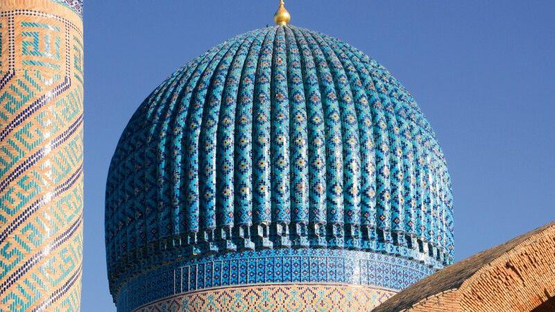 Verzierte Kuppel in Samarkand © Diamir