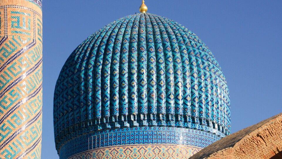 Verzierte Kuppel in Samarkand