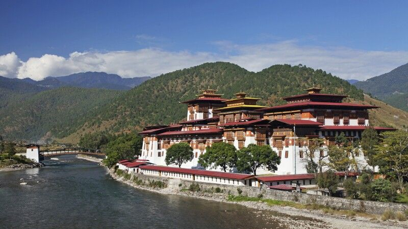 Dzong in Punakha © Diamir