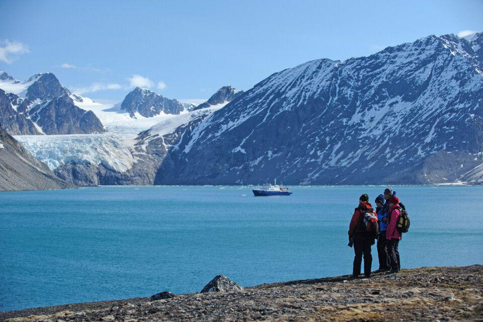 Wanderung in der Bergwelt Spitzbergens
