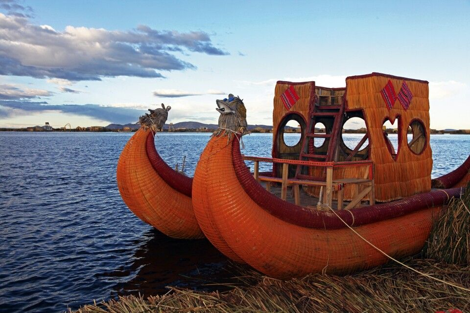 Schilfboot am Titicacasee