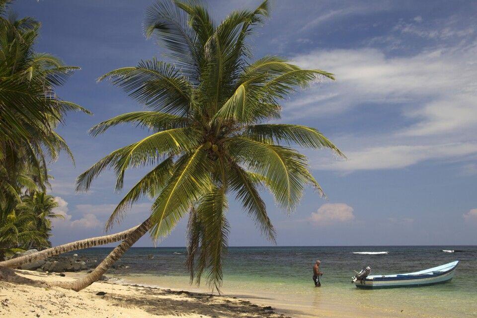 Traumstrand-Kulisse auf den San Blas Inseln